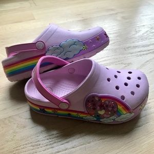 Crocs - light up Pink Rainbow (size 13)